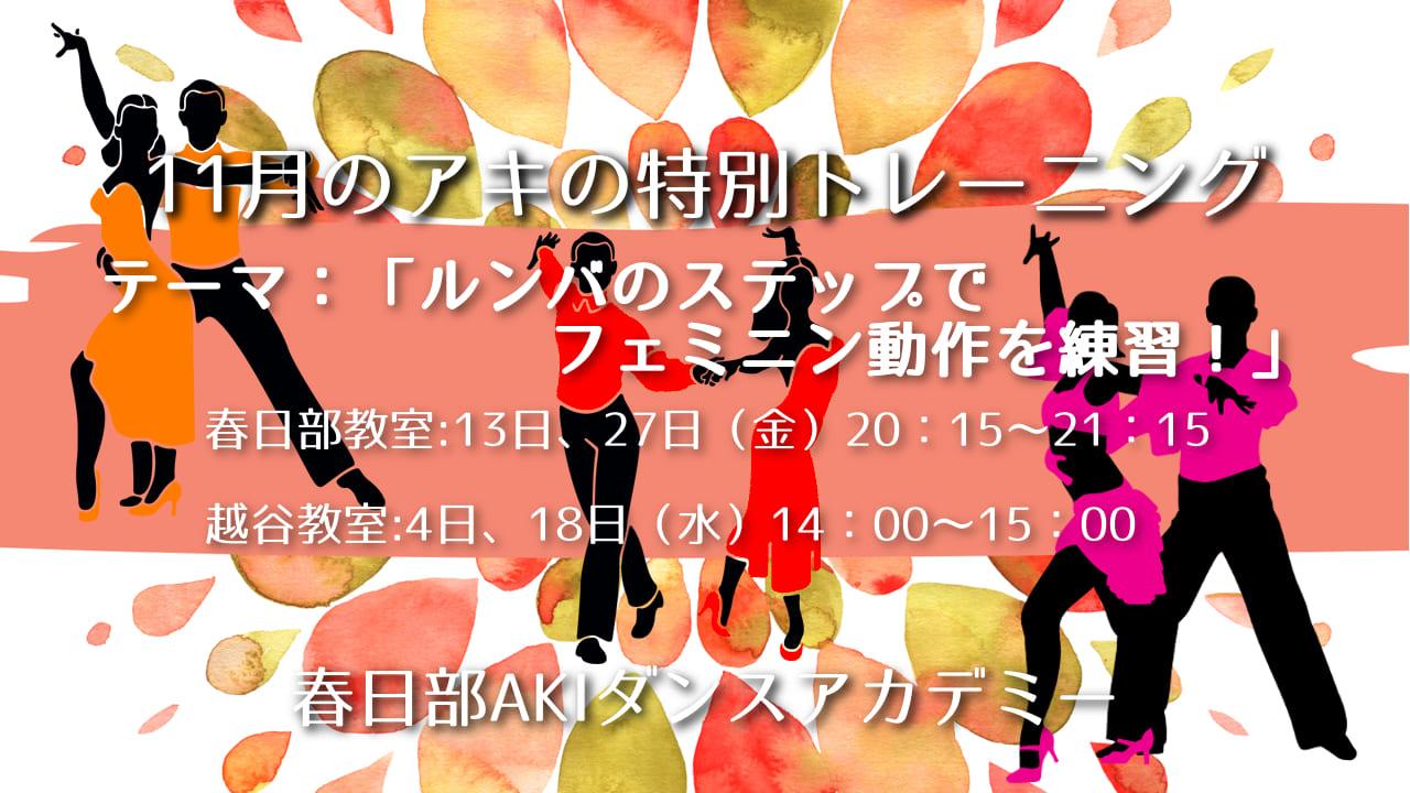 グループレッスン| 春日部AKIダンスアカデミー|社交ダンス