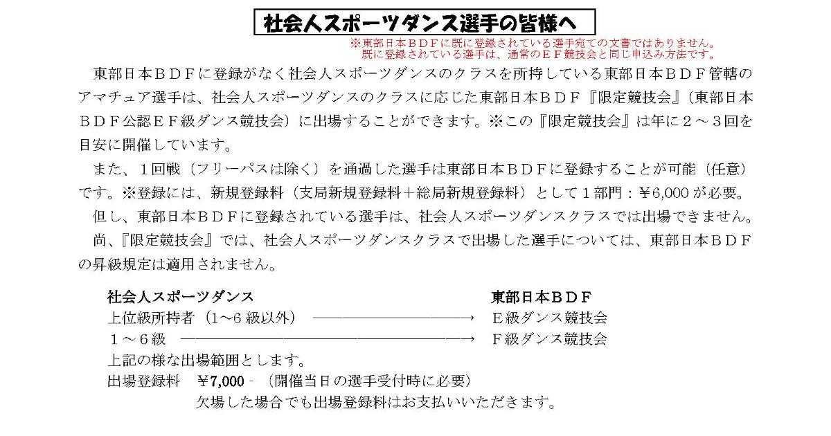 東部日本BDFの限定競技会